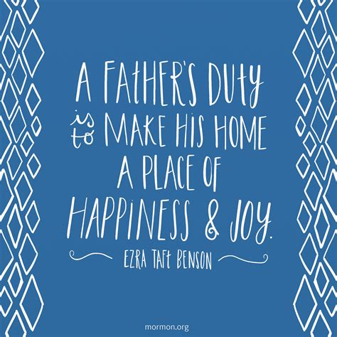 lds fathers day quotes a s duty