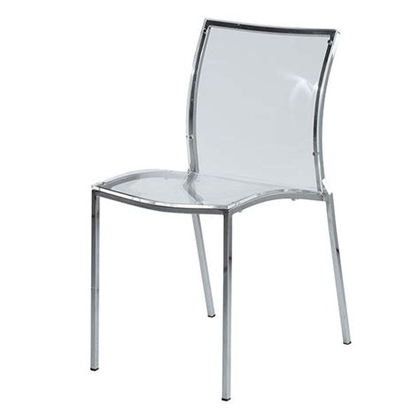 Clear Acrylic Dining Chairs Clear Acrylic Dining Side Chair