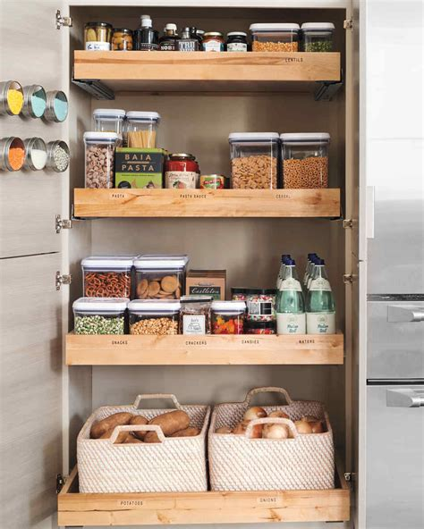 kitchen storage shelves ideas 10 best pantry storage ideas martha stewart