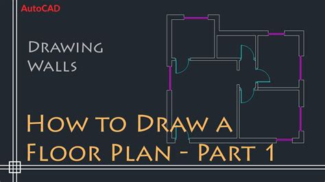 how to make a simple floor plan autocad 2d basics tutorial to draw a simple floor plan