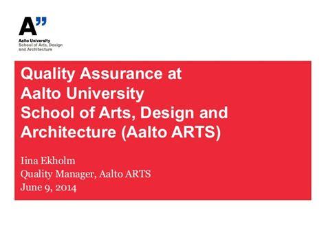 design management aalto quality assurance at aalto university school fo arts