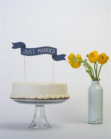 Wedding Banner Cake Topper by Paper Banner Cake Topper A Wedding Cake