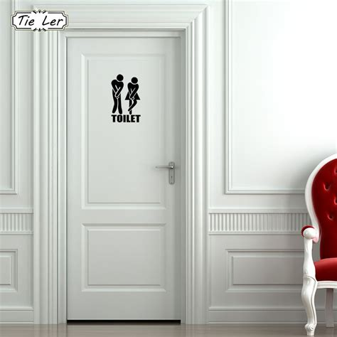 wall sticker shop tie ler 3 pcs toilet entrance sign decal wall sticker for shop office home cafe hotel diy