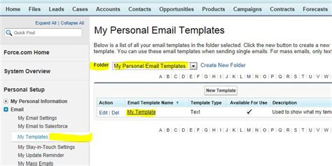 salesforce email templates salesforce best practices for working with personal