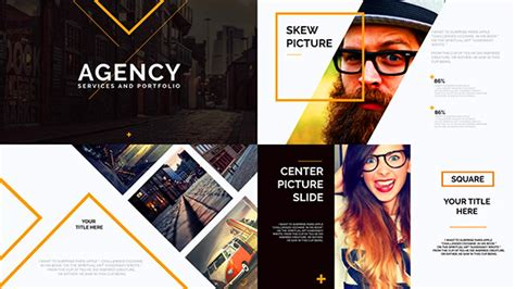 Orange Presentation Template By Clean Promo Videohive Free After Effect Promo Template