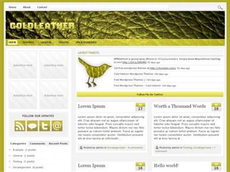 gold themes wordpress free wordpress gold leather theme template