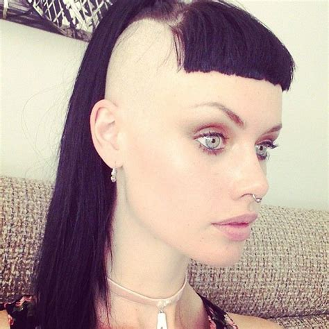 shaved hairstyles with long bangs alice kelson they shaved me bald tank girl sculpture