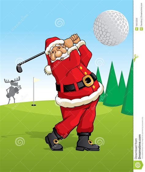 santa claus golfing royalty free stock images image