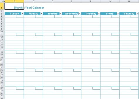 how to create monthly yearly calendar in excel