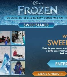 Disney Gift Card Giveaway - disney winter sweepstakes gift card giveaway 2014 sweeps maniac