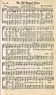 sonday the rugged cross antique hymn page