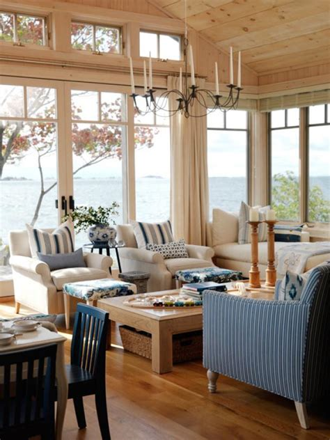 Blue And Neutral Living Room by Photo Page Hgtv