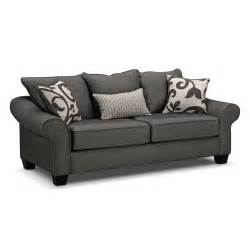 colette sofa gray value city furniture