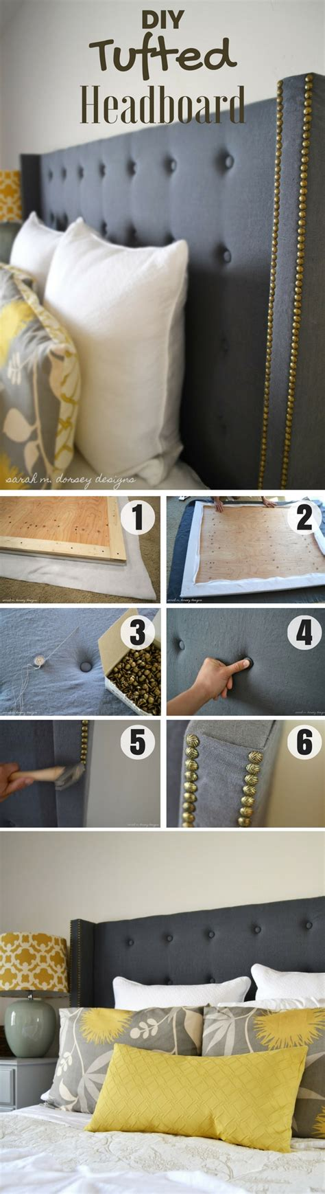 make a tufted headboard diy tufted headboard