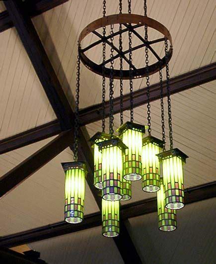 handmade arts and crafts light fixtures at the roycroft