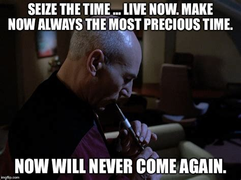 Quote Meme Maker - quote from jean luc picard in the episode the inner light