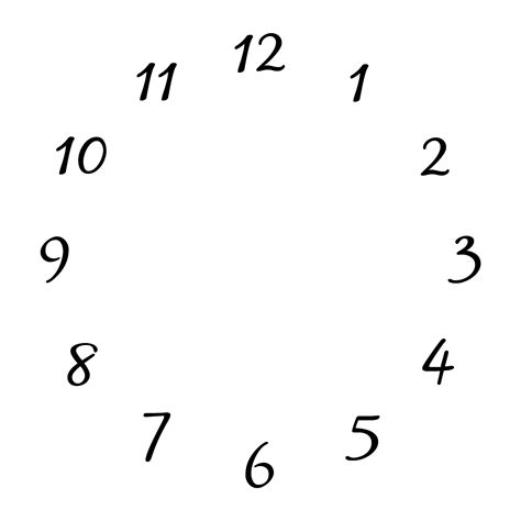 free printable clock numbers clock face free stock photo public domain pictures
