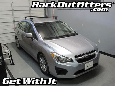 2008 Subaru Impreza Roof Rack by 2012 Subaru Impreza 5 Door Hatchback With Thule Get