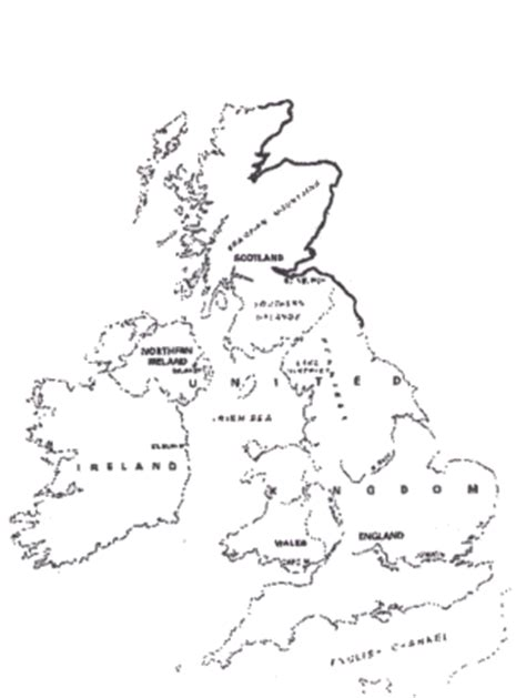 template of uk map tactile graphics