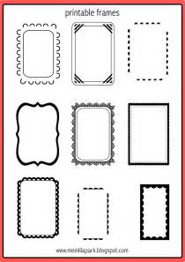 Free Printable Picture Frame Templates by Free Printable Doodle Frames Ausdruckbare Etiketten