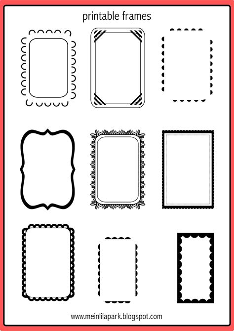 printable picture frames templates free printable doodle frames bullet journal template
