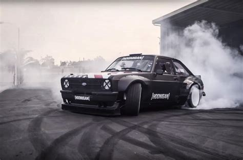 hoonigan drift cars ken block reveals gymkhana ford escort mk2 rs autocar