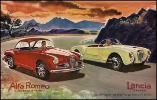 Vintage Lancia Alfa Romeo Lancia Targa Cars Sicily Italy Sports Car