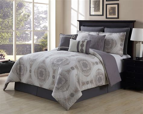 100 Cotton Bed In A Bag Sets 13 Sloan Taupe Gray 100 Cotton Bed In A Bag Set