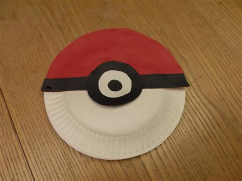 How To Make A Paper Pokeball - the gallery for gt how to make a pokeball with paper