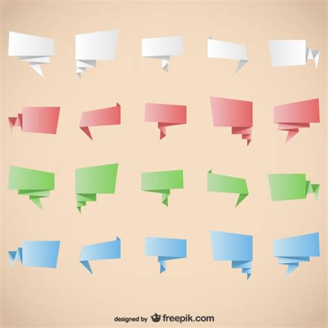 Origami Graphic - origami graphic elements vector free