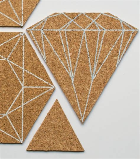geometric cork bulletin boards by project home