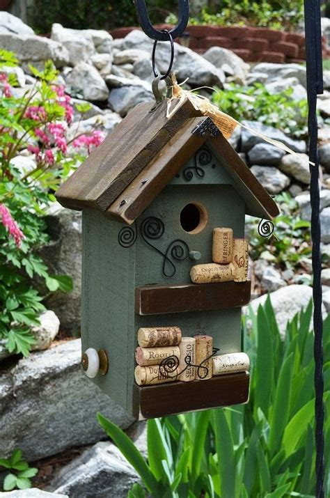 Handcrafted Birdhouses - top 15 ideas about on yard bird