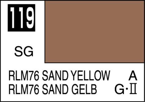 mr color paint rlm76 sand yellow 10ml c119 gsi c 119 gunze sangyo mr hobby