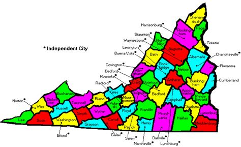 map of virginia counties feliz virginia county map va
