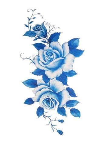elizabeth tattoo designs elizabeth blue flower temporary blue flowers