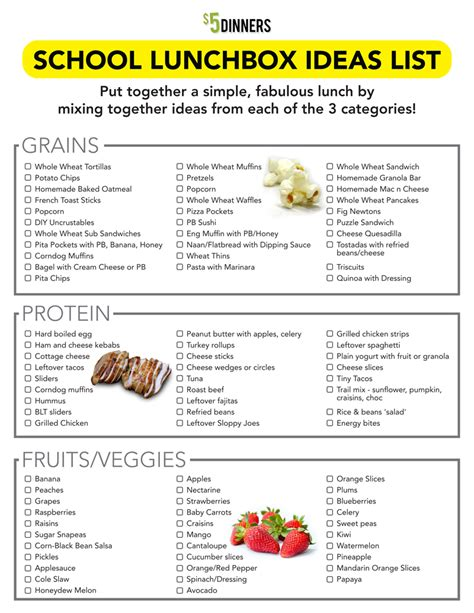 free printable easy 5 day lunchbox planner lunch box 31 days of school lunchbox ideas day 1