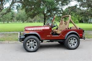 custom convertible jeep 1980 jeep cj 5 custom 826 bronze convertible 304 ci