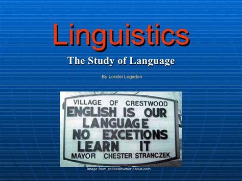 the study of language linguistics the study of language