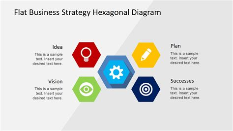 business strategy templates flat business strategy hexagonal powerpoint diagram