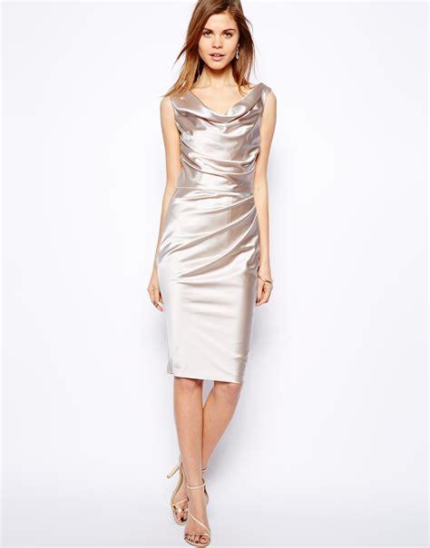 manda dress coast manda dress in silver alabaster lyst