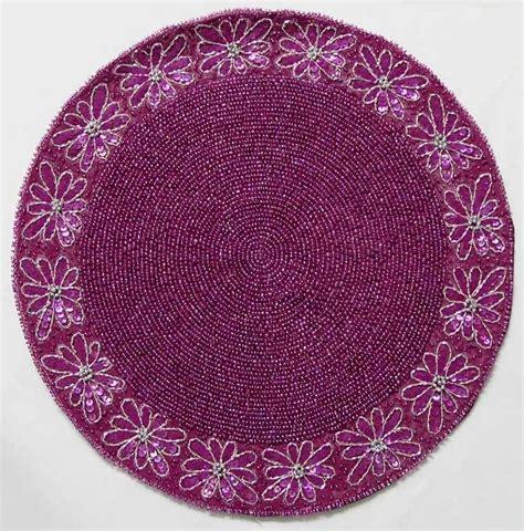 beaded table cloth magenta beaded cloth centre table mat