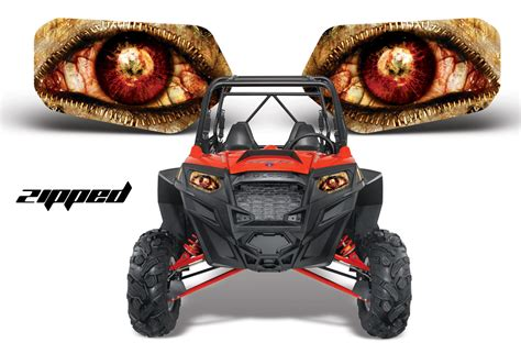 Light Depot Rzr Head Light Eye Graphics For All Polaris Rzr Models