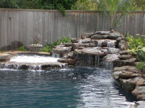 pool designs with waterfalls rogers custom swimming pool spa waterfall design