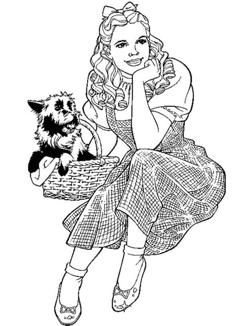 free coloring pages of toto of oz