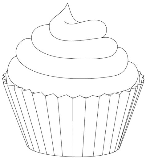 template drawing cupcake template beepmunk