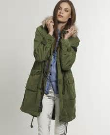 womens super desert parka in dark army green superdry
