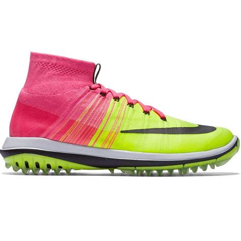 nike golf shoes flyknit elite pink blast volt aw16