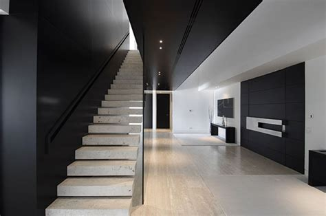 black and white house interior design modern travertine house by a cero architecture