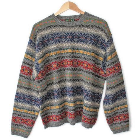 Sweater Vintage by Vintage 90s J Crew S Wool Ski Sweater The