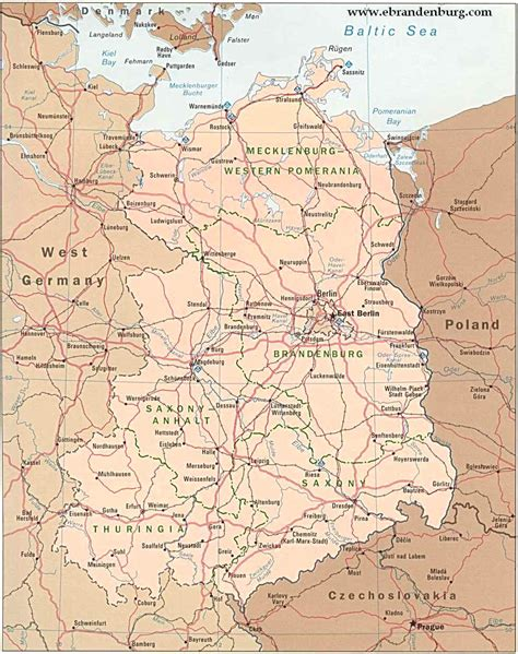 map of western germany east and west germany map